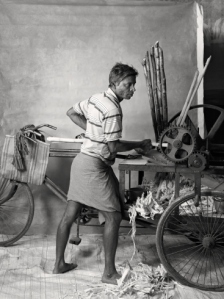 Sugarcane juice seller, earning $24 per week, 2012