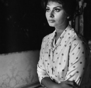 Not published in LIFE. Sophia Loren, Italy, 1961.