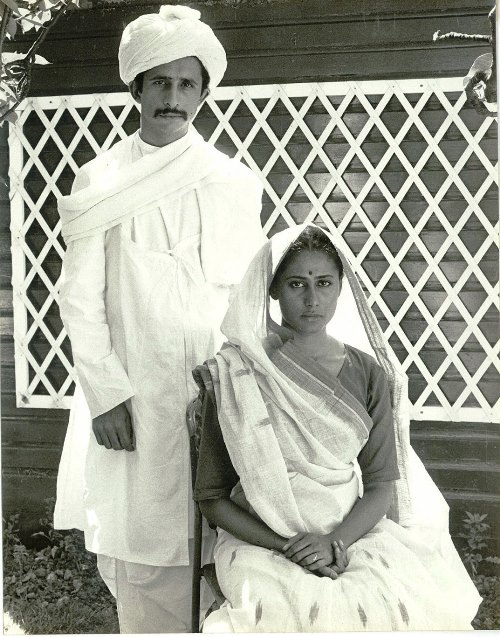 Naseerudin Shah and Smita Patil in a screen test for Richard Attenborough's Gandhi