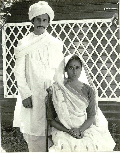 Naseerudin Shah and Smita Patil in a screen test for Richard Attenborough's Gandhi