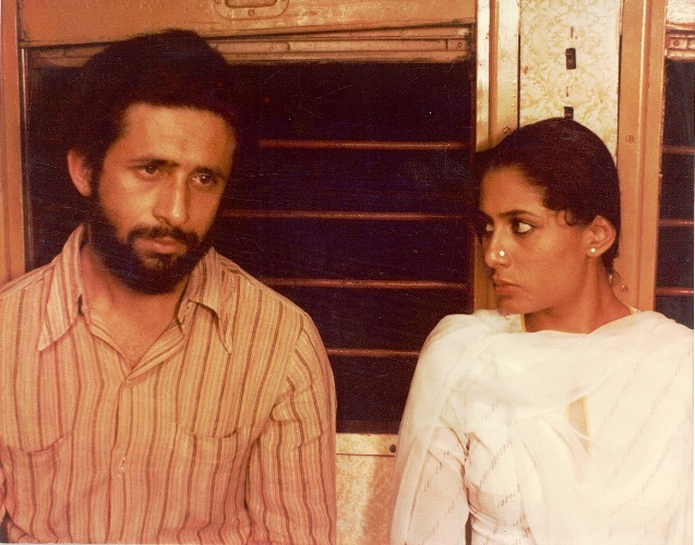 With Naseeruddin Shah in Sagar Sarhadi's Bazaar (1982)