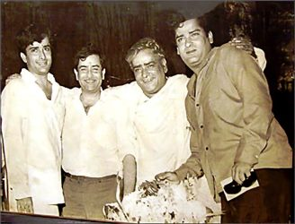 Shashi Kapoor, Raj Kapoor, Prithviraj Kapoor, Shammi Kapoor. Photograph: Rediff Archives