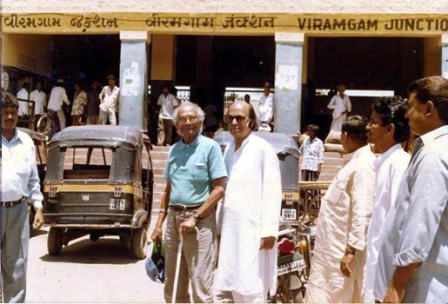 Nalin Shah with Naushad at Viramgam where Naushad wanted to revive his past in Viramgam before the start of his career as music director