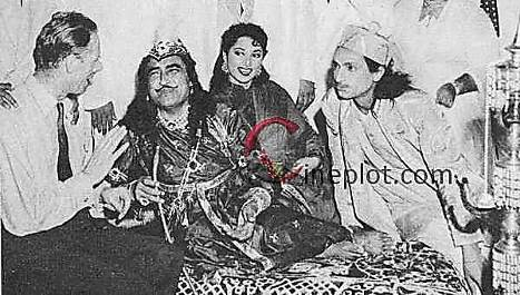 Suraiya & Ashok Kumar in unreleased Wajid Ali Shah (1953)