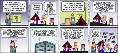 Top 12 change management comic strips